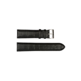 Black Leather Croc Hugo Boss 22mm - HB1181142348