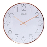 Henley 30cm Contemporary Metal Wall Clock - Copper  HCW001.4