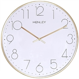 Henley 40cm Large Contemporary Dome Wall Clock - Brass  HCW002.2