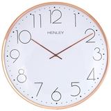 Henley 40cm Large Contemporary Dome Wall Clock - Copper  HCW002.4