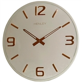 Henley 40cm Modern Dome Aluminium Wall Clock - Taupe / Rose Gold  HCW003.4