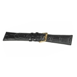 SEIKO BLACK LEATHER CROC STRAP SUP880P9