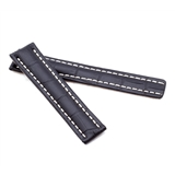 Black Alligator Style Deployment Strap for Breitling® WB1-20/18