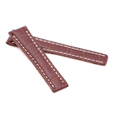 Brown Alligator Style Deployment Strap for Breitling® WB2-20/18