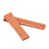 Tan Alligator Style Deployment Strap for Breitling® WB3-20/18