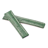 Green Alligator Style Deployment Strap for Breitling® WB6-20/18