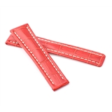 Red Alligator Style Deployment Strap for Breitling® WB7-20/18