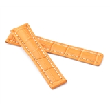 Orange Alligator Style Deployment Strap for Breitling® WB8-20/18