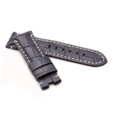 Black Alligator Style Deployment Strap for Panerai® WP1-22/20