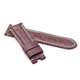 Brown Alligator Style Deployment Strap for Panerai® WP2-22/20