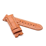 Tan Alligator Style Deployment Strap for Panerai® WP3-22/20