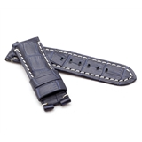 Dk Blue Alligator Style Deployment Strap for Panerai® WP4-22/20