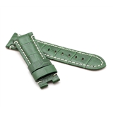 Green Alligator Style Deployment Strap for Panerai® WP6-22/20