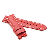 Red Alligator Style Deployment Strap for Panerai® WP7-22/20